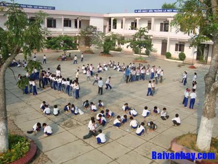Tả ngôi trường em học